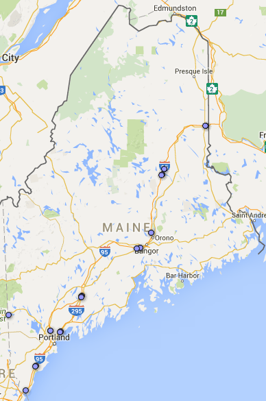 maine rest area map