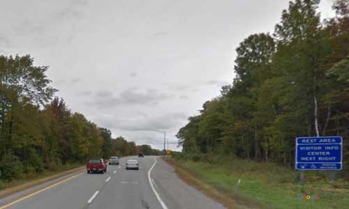 me interstate 95 maine i95 hampden north visitor information center rest area mile marker 175 northbound off ramp exit