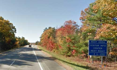 me interstate 95 maine i95 hampden north visitor information center rest area mile marker 179 southbound off ramp exit