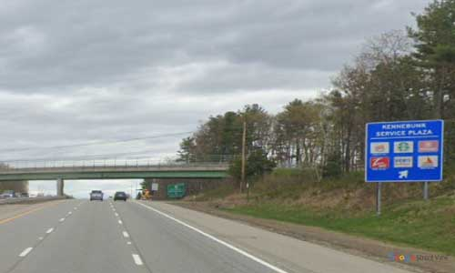 me interstate 95 maine i95 kennebunk service plaza rest area mile marker 25 northbound off ramp exit