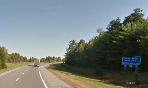 me interstate 95 maine i95 medway rest area mile marker 240 northbound off ramp exit