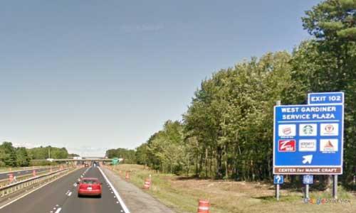 me interstate 95 maine i95 west gardiner service plaza rest area mile marker 102 northbound-off ramp exit